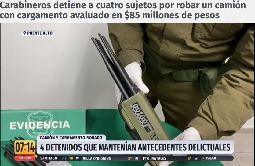 El 2020 en recuperos de cargas en Chile