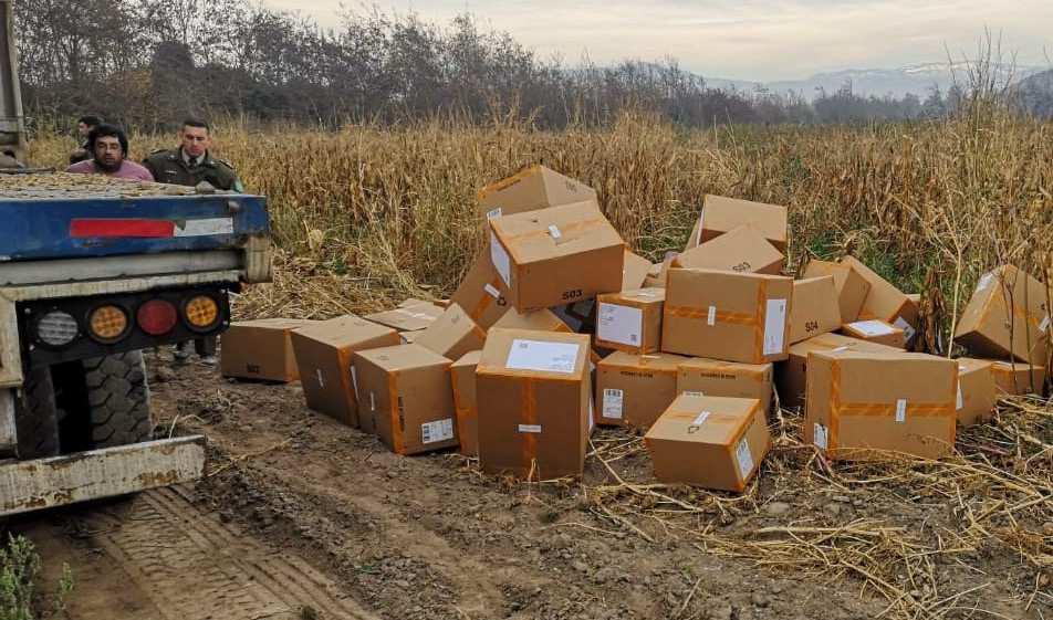 Millonario robo de zapatillas recuperado en Chile